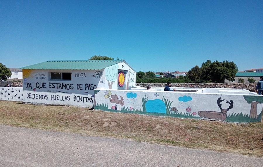 Los alumnos del CRA Tierras de Sayago convierten en espacio verde un vertedero