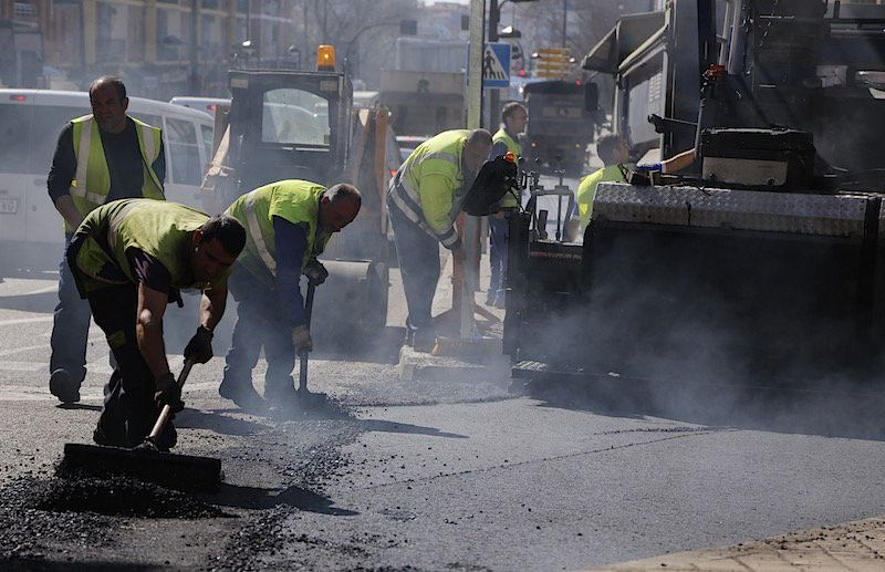 El Ayuntamiento ya planea un nuevo proyecto de asfaltado con el actual ejecutado al 95%