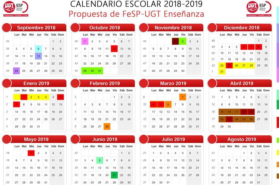 Calendario Santoral.Ugt Propone Un Calendario Escolar Basado En Criterios
