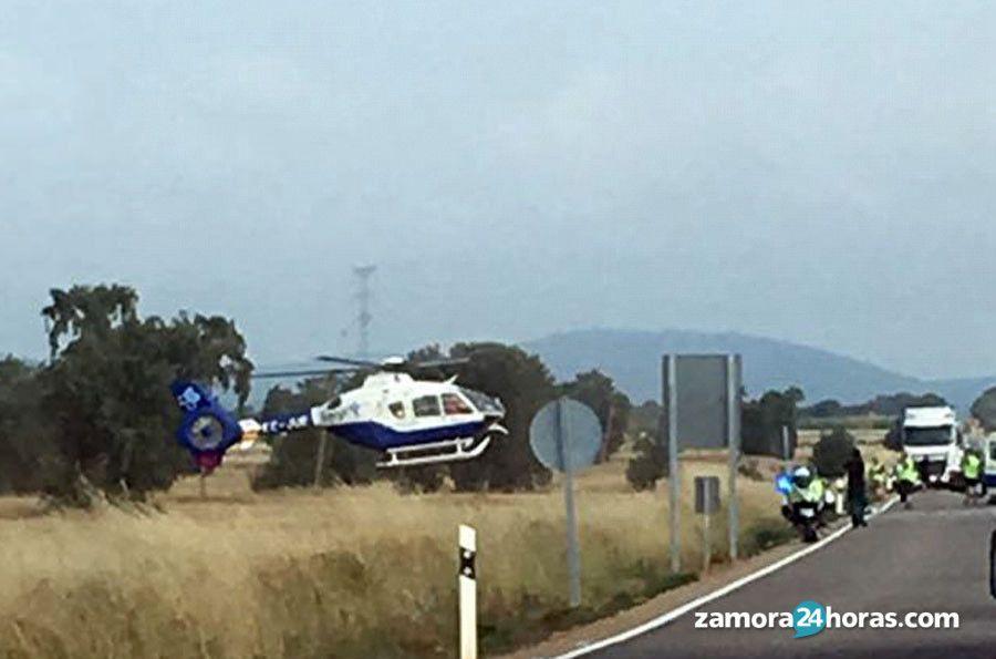 Helicoptero pozuelo accidente sacyl