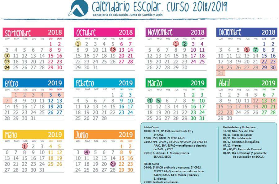 El Próximo Curso Escolar 2018 2019 Comenzará El Lunes 10 De