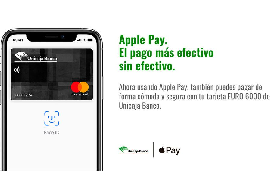 Apple Pay, ya disponible para clientes de Unicaja Banco