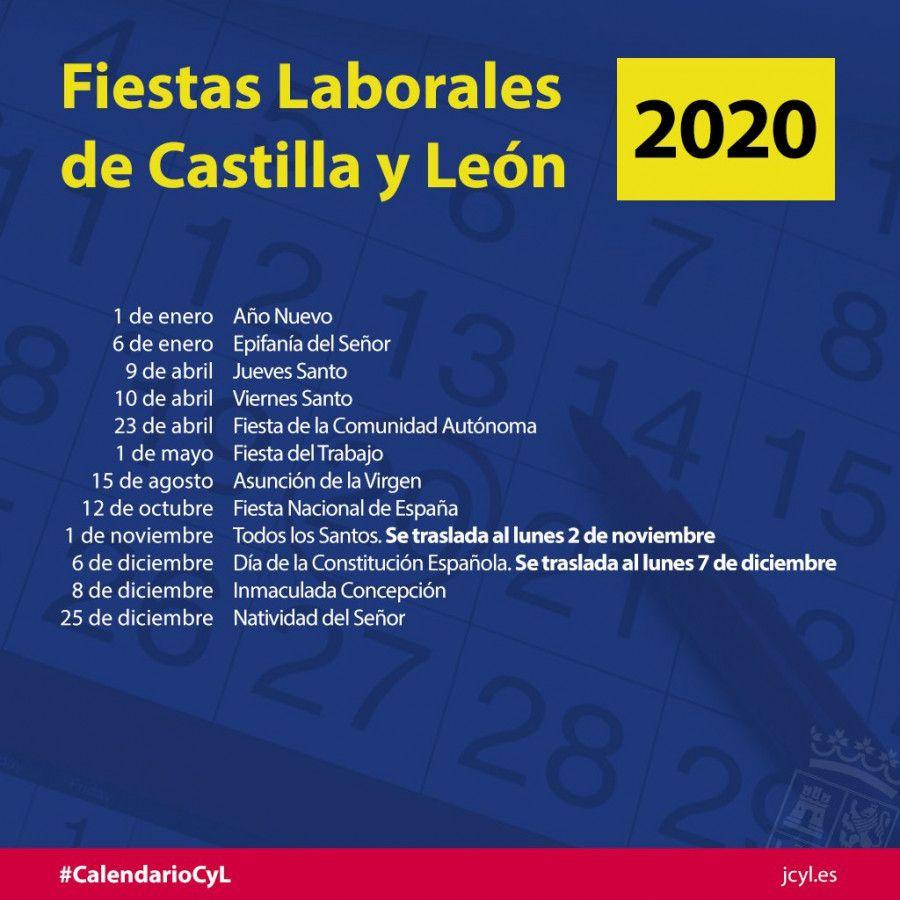 Calendario Vino 2020.Aprobado El Calendario De Fiestas Laborales En Castilla Y