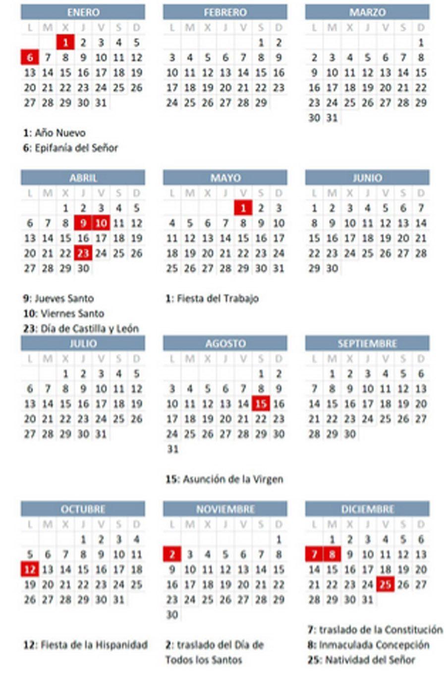 2020 Calendario Laboral.Calendario Laboral 2020 Consulta Todos Los Festivos