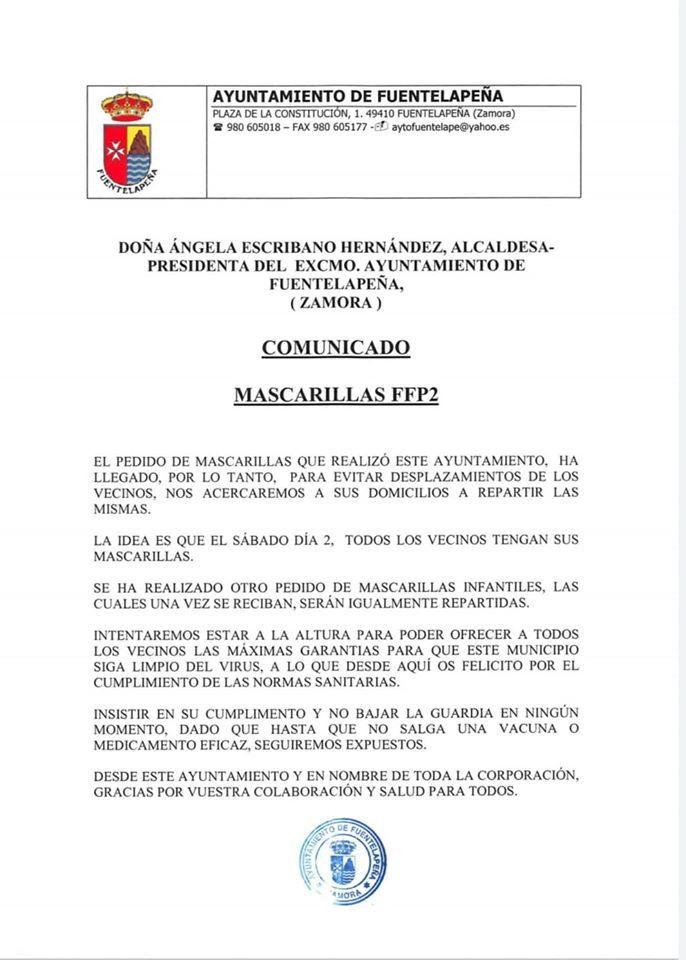 Mascarillas Fuentelapeu00f1a