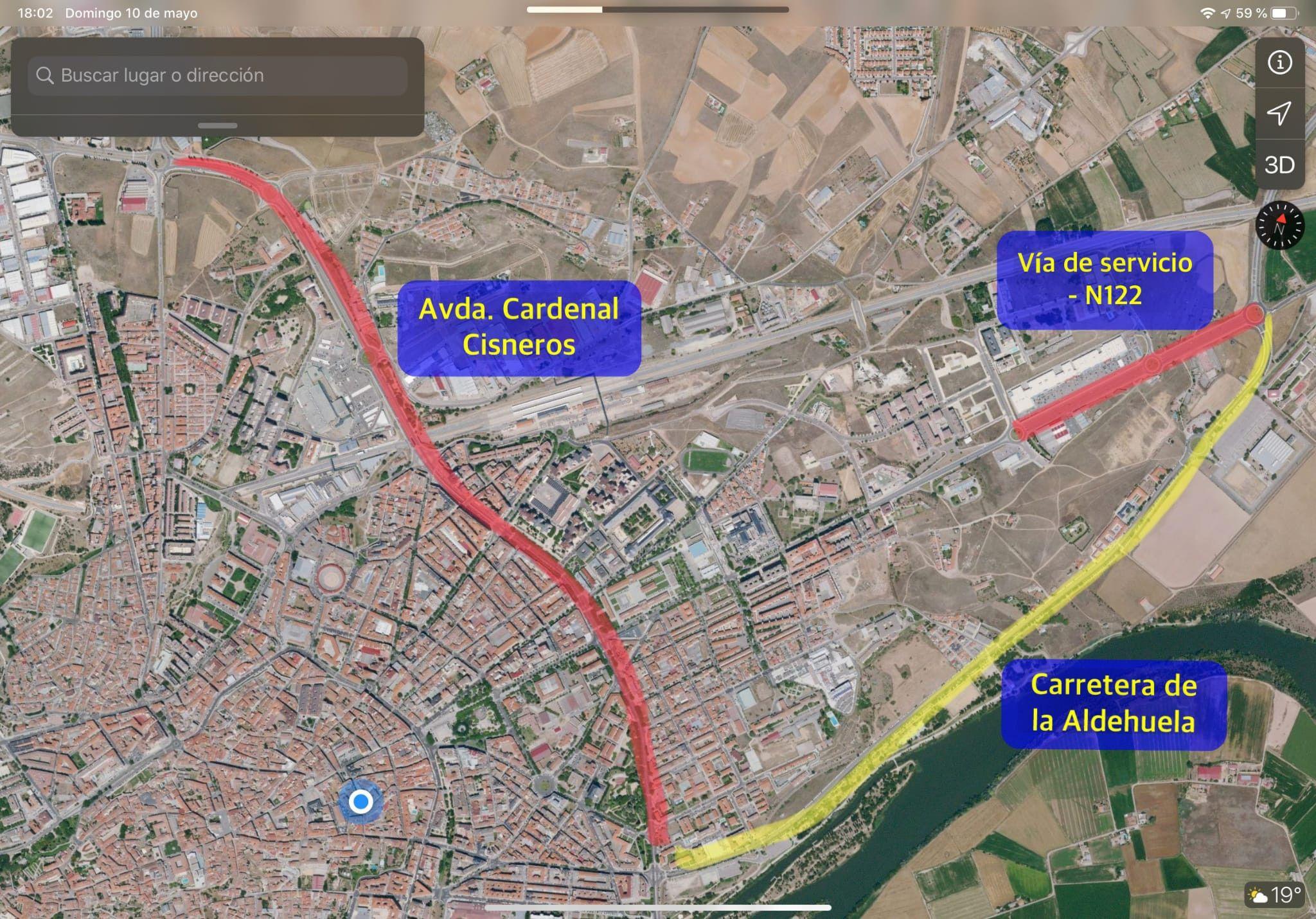 2  Aldehuela  Cardenal Cisneros  Vu00eda Servicio N122