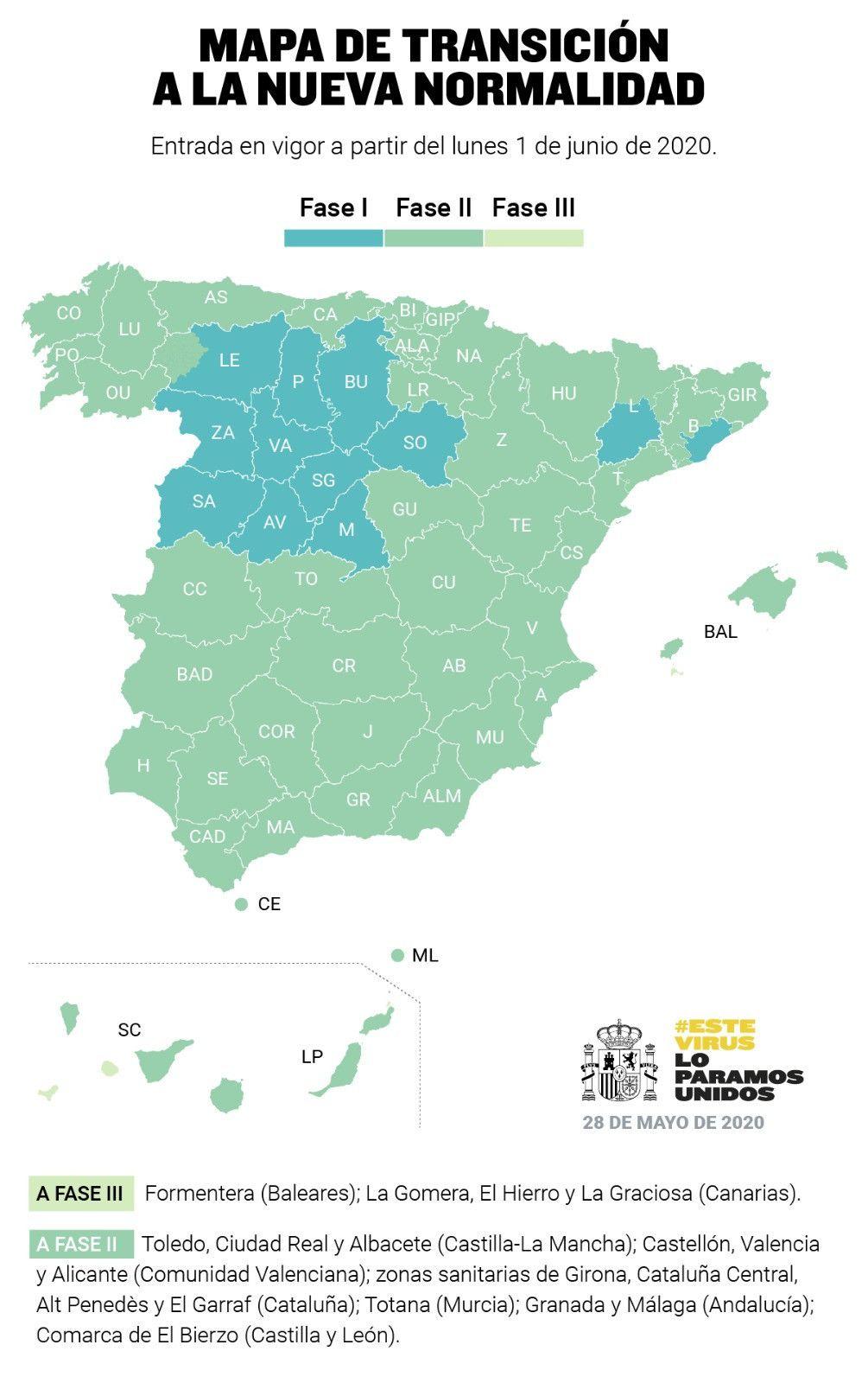 Mapa Del Bierzo Leon.Asi Queda El Mapa De La Desescalada A Nivel Nacional Tras Los Ultimos Cambios