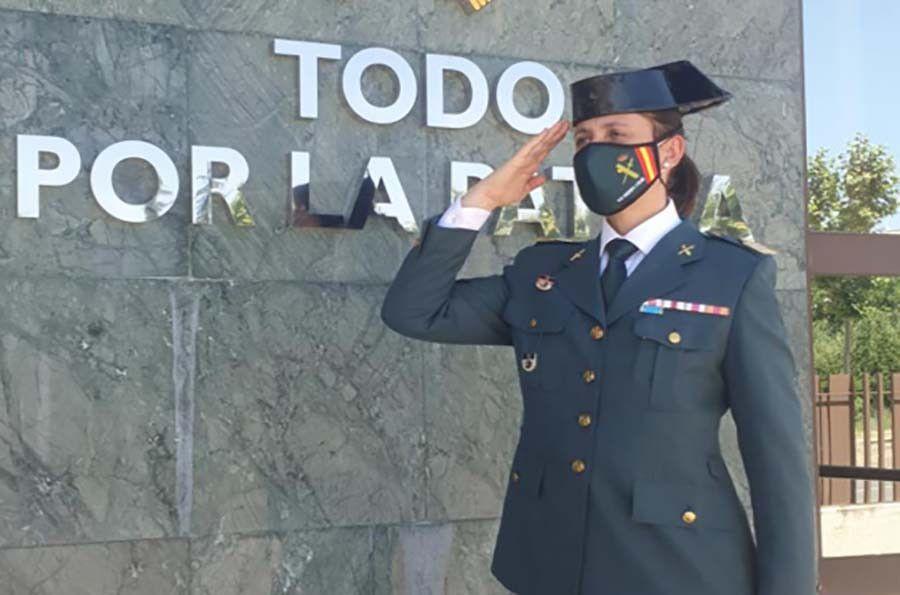 La sargento primero Ana Katia Pérez de la Guardia Civil llega a Zamora