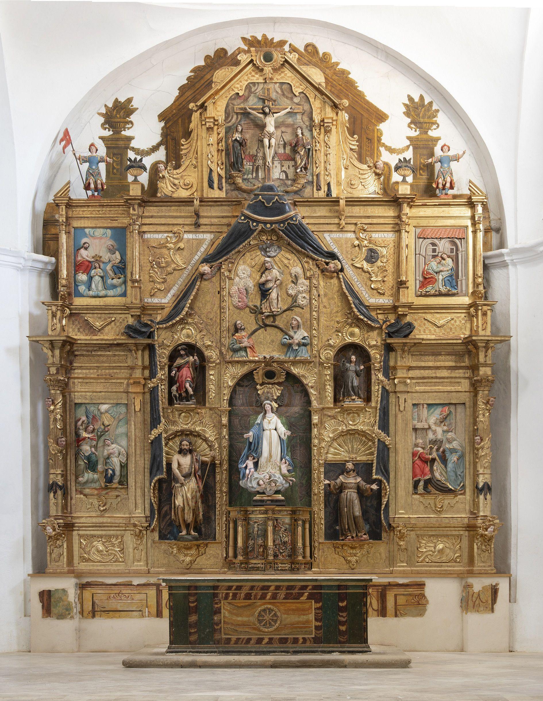 Retablo iglesia Santa Maru00eda del Ru00edo. Castroverde de Campos. Despues