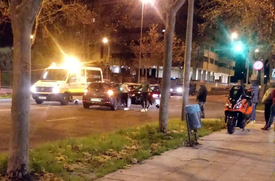 Dos coches implicados en un accidente a la salida de Zamora