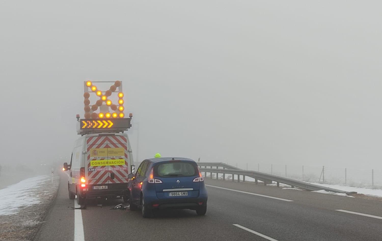 A66 accidente niebla